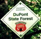DuPont State Forest Sign